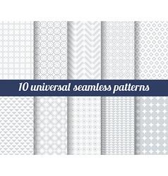 Set ten subtle seamless patterns vector