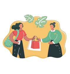 shopping assistant help customer vector image