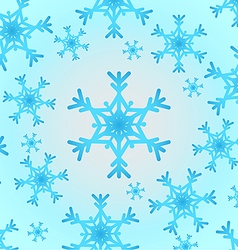 Snowflake white and blue vector