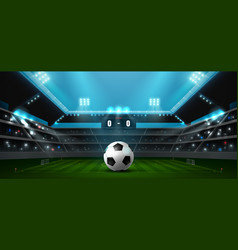 Soccer football stadium spotlight vector