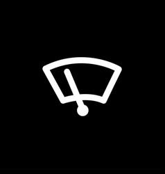 speedometer icon on black background black flat vector image