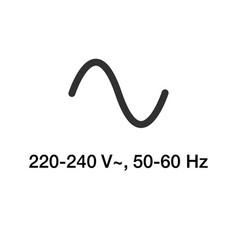 Symbol ac source ac sinusoid icon stock vector