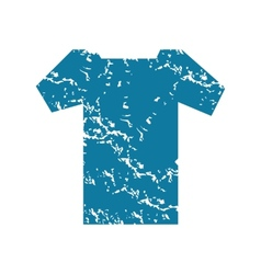 T-Shirt grunge icon vector