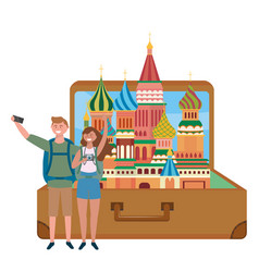 The saint basil s cathedral moscow design vector