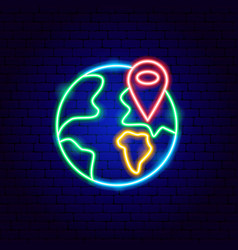 travel destination neon sign vector image
