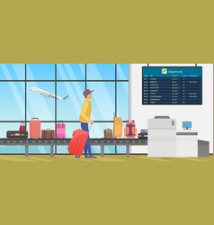 travel transfer in international airport person vector image