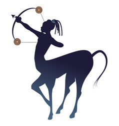 tribal zodiac sagittarius centaur half man and vector image