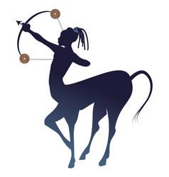Tribal zodiac sagittarius centaur half man and vector