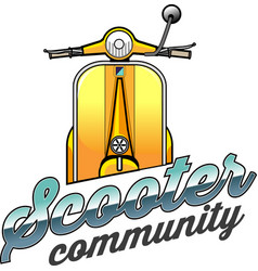 Vespa or scooter community vector