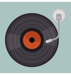 vinyl player isolated icon design vector image