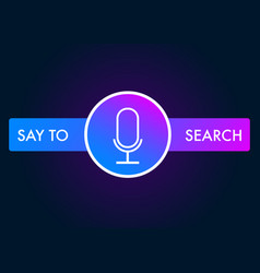 voice search recognition concept icon vector image
