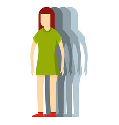 woman icon flat style vector image