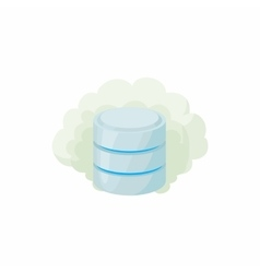Cloud database icon cartoon style vector image vector image