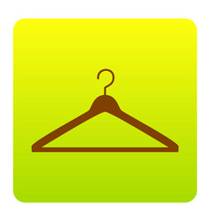 hanger sign brown icon at vector image