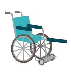 medical wheelchair cartoon vector image