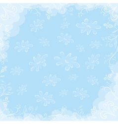 pastel flowers background vector image