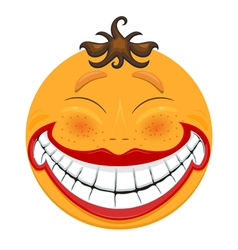 Strange smiling toothy smiley vector image