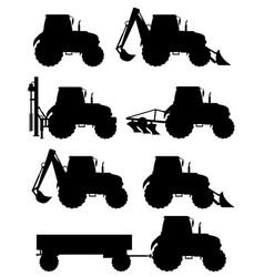 tractor 09 vector image