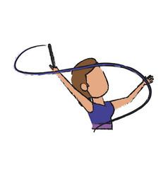 Artistic gymnast design vector