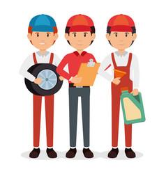auto mechanic cartoon service vector image