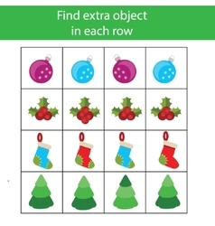 Find extra object in row educational children vector