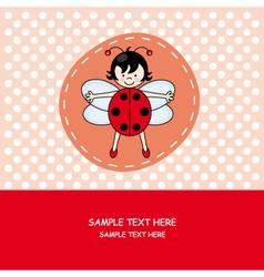 girl with ladybug costume vector image vector image