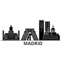 madrid architecture city skyline travel vector image
