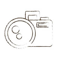 sketch draw photo camera picture image icon vector image vector image