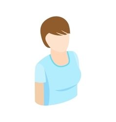 Woman with short hair icon isometric 3d style vector image vector image