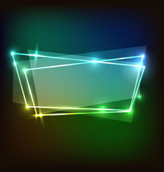 abstract neon background with colorful banners vector image vector image