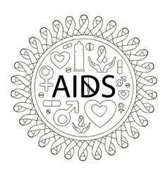 Aids day set vector
