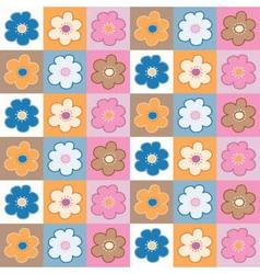 floral tiles vector image