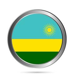 Rwanda flag button vector image vector image