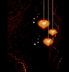 valentine heart background vector image vector image