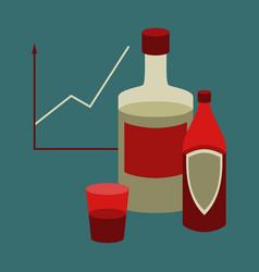 Flat icon on stylish background alcohol vector