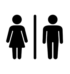 Man and Woman Icon on White Background vector image vector image