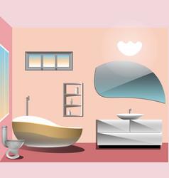 modern bathroom interior vector image