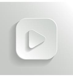 Play icon - media player icon - white app button vector image vector image