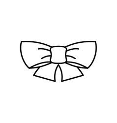 Ribbon bow thin line icon vector image vector image