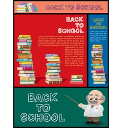 School Banner Set Part 3 vector image