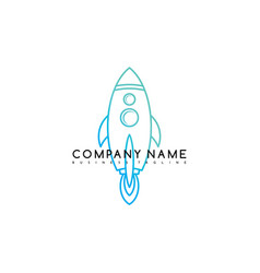 space rocket shuttle brand logo template logotype vector image