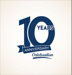 10 years anniversary black template background vector