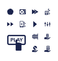 13 player icons vector