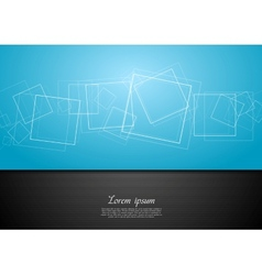 Abstract contrast blue and black backdrop vector