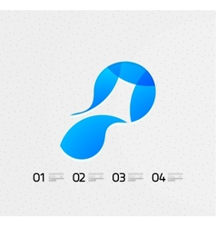 Abstract flowing shape on the paper vector image
