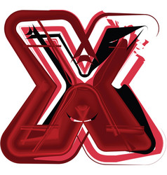 abstract letter x vector image