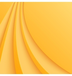 Abstract yellow background with curved lines vector