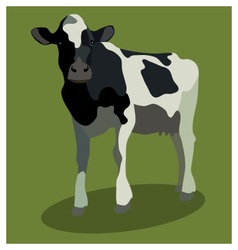 Animal cow on green vector