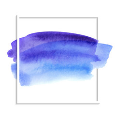 beautiful blue watercolor texture on white vector image