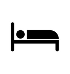 bed icon sign eps10 vector image